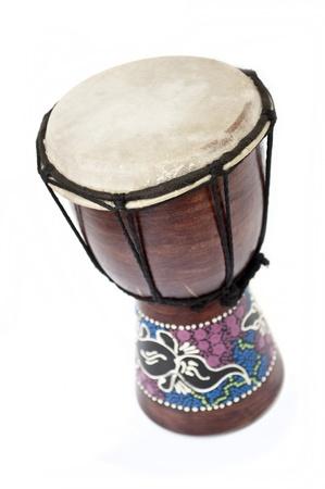 small tarabuka isolated on white background Stock Photo