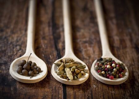 full spoons of spices photo