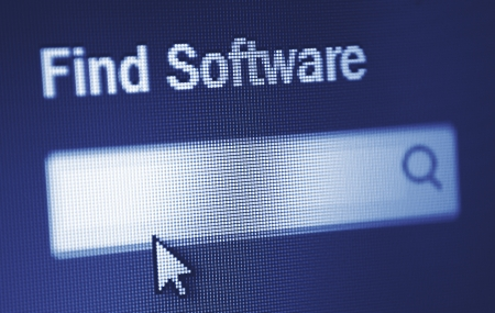 online search enginge for software Stock Photo - 18133391
