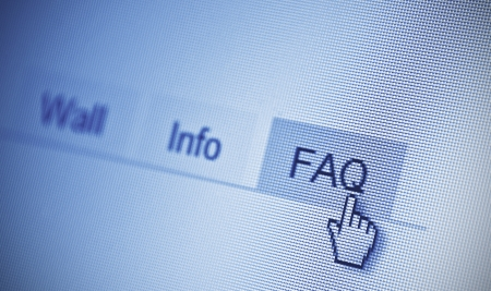 search FAQ button in browser Stock Photo - 18133397