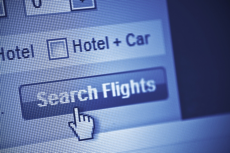 searching online for flights Stock Photo - 18133403