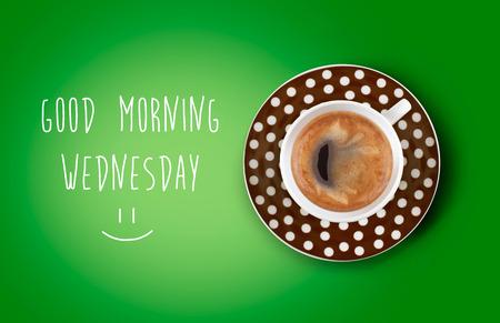 Goedemorgen koffiekopje Stockfoto