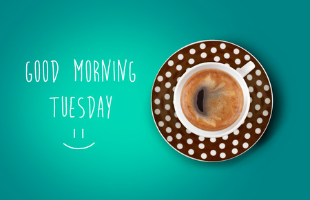 Good morning coffee cup photo