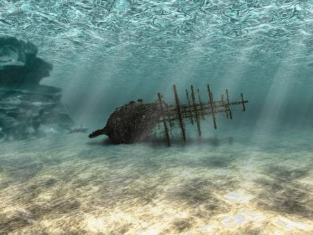 ship wreck: wreck