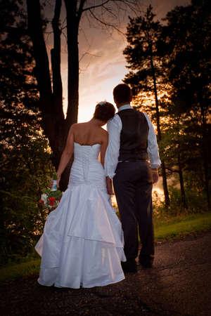 결혼식 날 일몰