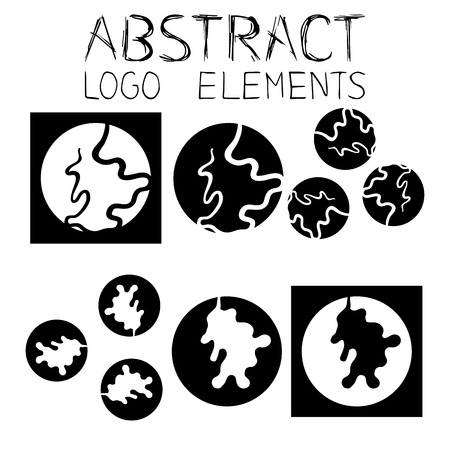 curved line: Abstract logotype. Abstract black and white symbol. Curved Line.
