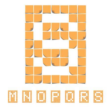 Sticker font alphabet. Sticky Notes