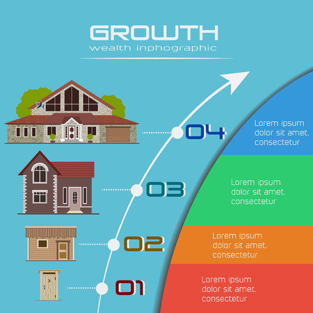 growth: Growth of wealth infographic. Illustration