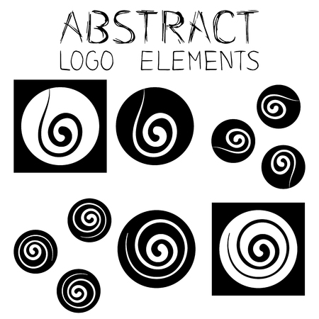 Abstract elements. Abstract symbol. Wind Emblem.