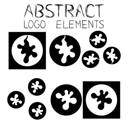 Abstract elements. Abstract symbol. Blob Emblem. Splatter Drop Sign.
