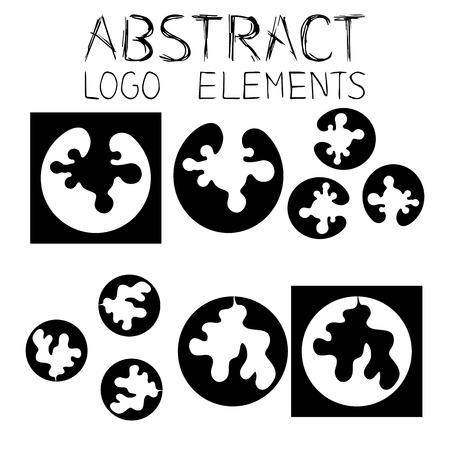 Abstract symbol. Blob Emblem. Splatter Drop Sign