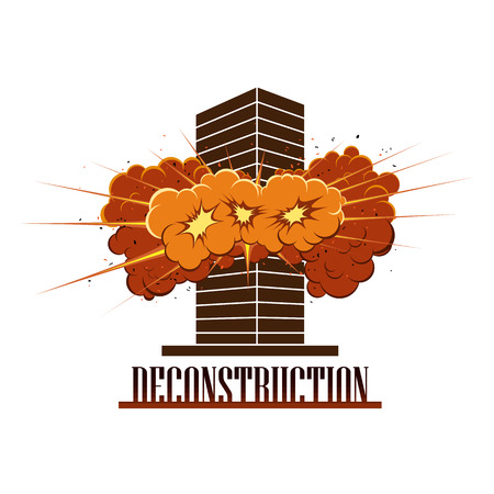 Deconstruction Company icon. Ilustracja
