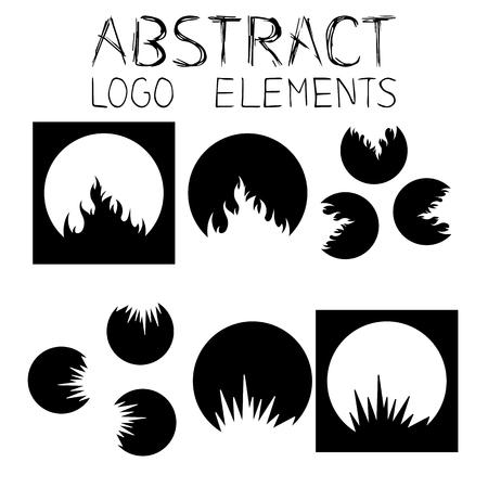 crooked: Abstract symbol. Fire Emblem. Crack Sign Illustration