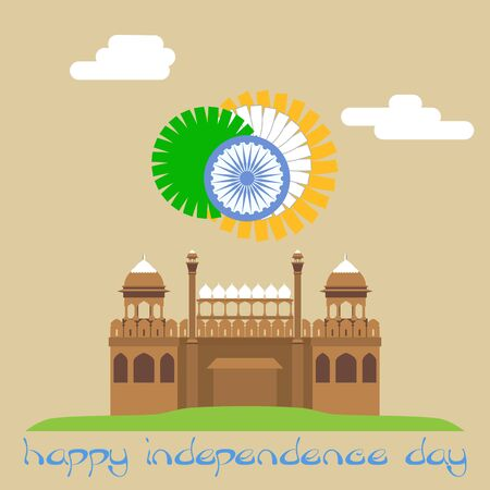Happy independence day. Red fort. INDIA