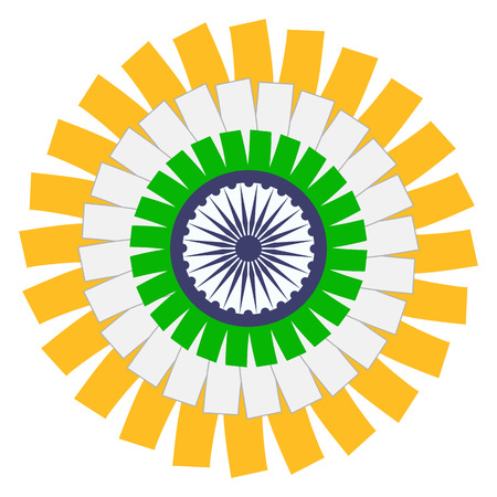 Indian Flag Circle Concept. Ilustracja