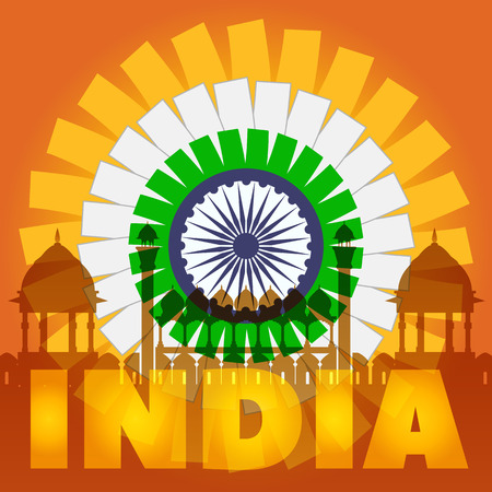 India Poster Rise Concept. Ilustracja