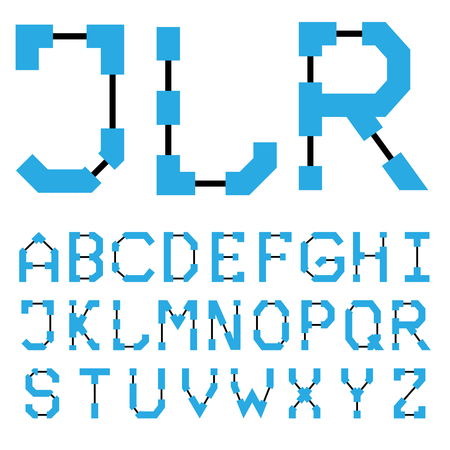 Blueprint architectural font