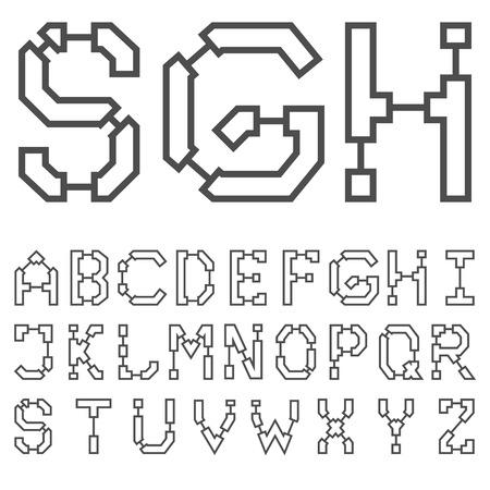 Blueprint architectural font royalty free cliparts vectors and blueprint architectural font vector malvernweather Choice Image
