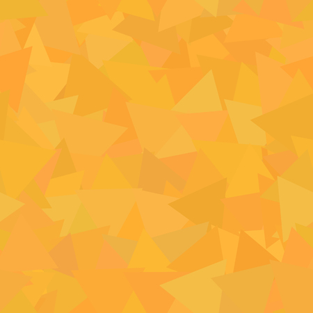 Triangle abstract oragne autumn leaves seamless background pattern.