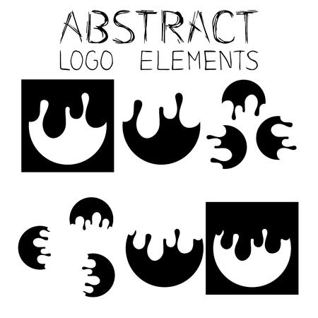 Abstract Element Liquid style Ilustracja