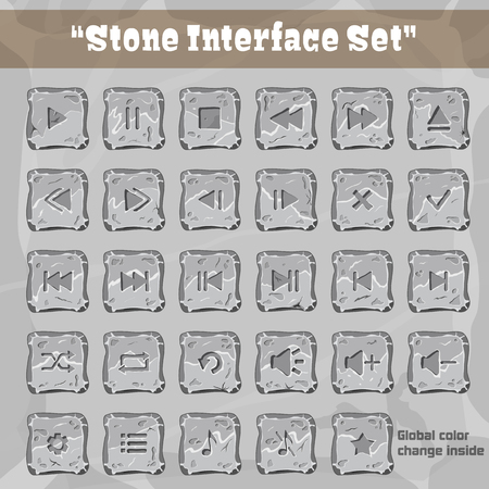 Stone User Interface Set Ilustracja