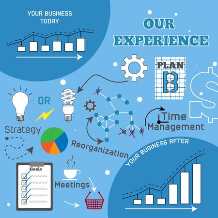 Business improvement infographic illustration Ilustracja
