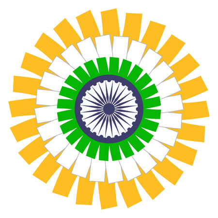 Indian Flag Circle Concept