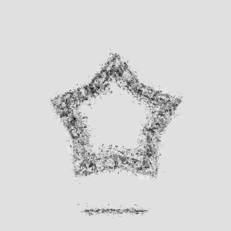 Ash light star bookmark symbol silhouette grey. Zdjęcie Seryjne