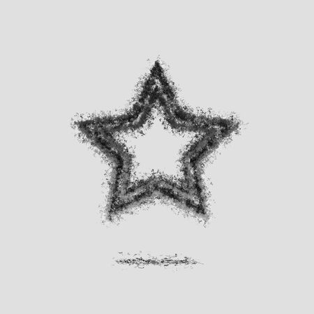 Ash Dark star bookmark symbol silhouette grey Zdjęcie Seryjne