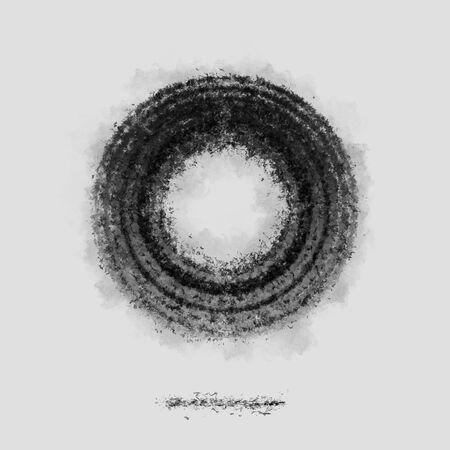 Ash Dark cirle symbol silhouette grey poster backdrop Zdjęcie Seryjne