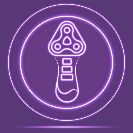 Futuristic Neon Glowing Shaver Icon Sensor style. Vector EPS 10 Ilustracja
