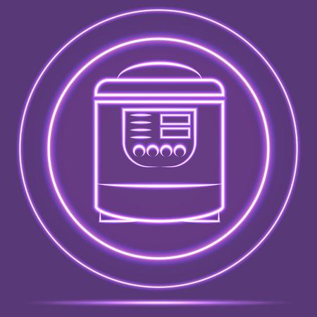 preassure: Futuristic Neon Glowing Shaver Icon Sensor style. Vector EPS 10 Illustration