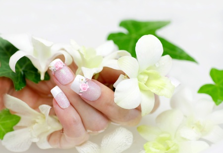 nail and orchid