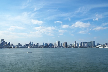 tokyo bay and buildings Stock Photo