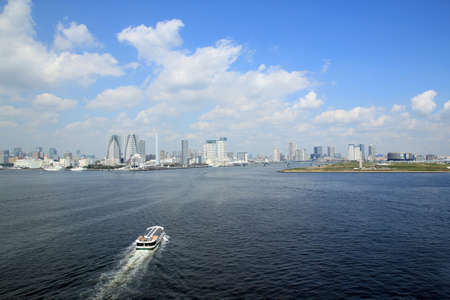 tokyo bay and buildings photo