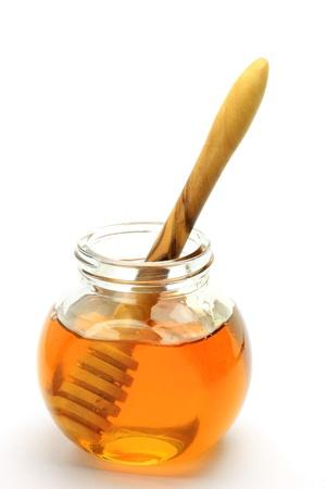 honey  and  honey spoon Stock Photo