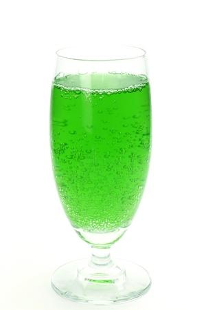 melon soda  Stock Photo