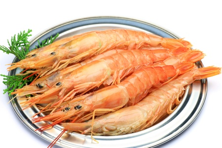 virginity: red shrimp  Stock Photo