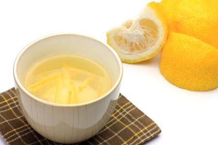 This is Japanese citron tea. Stock Photo