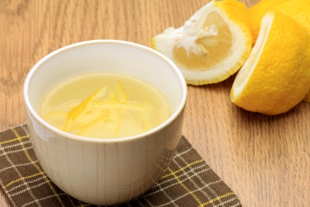 This is Japanese citron tea. Stock Photo