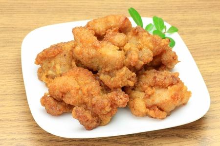 日本料理唐揚げに呼び出されます。 写真素材
