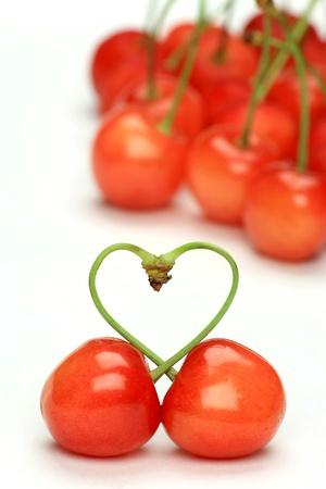 これは日本の桜です。心臓にチェリーの軸を作成しました。 写真素材