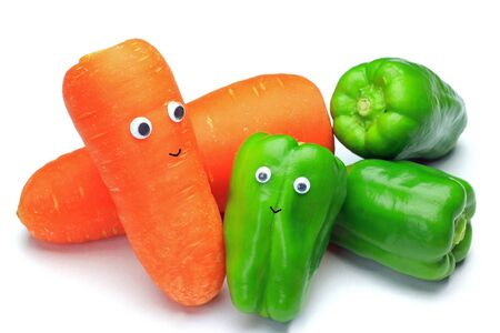 I added an eyeball to vegetables and made it interesting. Stock Photo - 12579163
