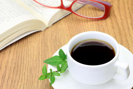 I expressed the state that read while drinking coffee Stock Photo - 12871139
