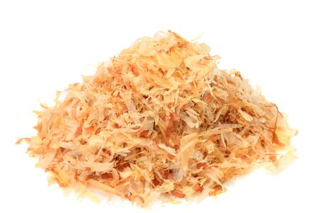 This reduced dried bonito thinly. It is used in Japan. Stock Photo - 13044581