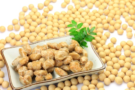 The natto is a processed food of the soybeans  photo