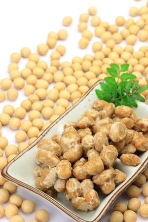 納豆是大豆加工食品 版權商用圖片