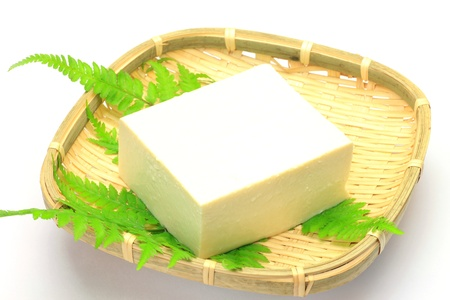 This is called tofu by Japanese food  Stock Photo