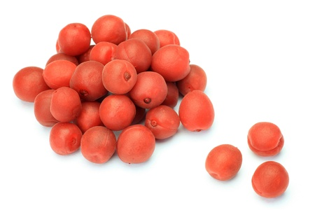This is called umeboshi by Japanese food. Stock Photo