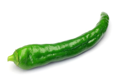This is slim green pepper  Stock Photo